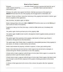 Lease Agreement Form Pdf Enchanting Rent To Own Lease Agreement Gtld World Congress