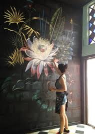 Lucila Dominguez - wall art this is lovely! If people want to spray paint  public walls - I wish they would do this type of Art!