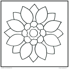 Easy Flower Mandala Coloring Pages Easy Mandala Coloring Pages