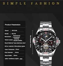 <b>BOYZHE Mens Automatic Mechanical</b> Fashion Top Brand Sports ...