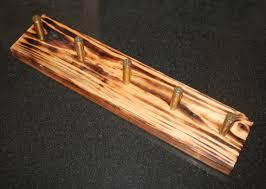 Pine Coat Rack Cal Spent Brass Burned Pine Coat Rack 97
