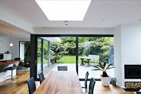 open space glass wall
