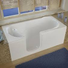 meditub 60 w x 30 d white soaking walk in bathtub left