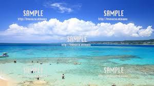 コマカ島透き通った海 写真素材 フリー素材おきなわ
