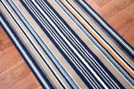 striped runner rug runners navy blue stripe long wide narrow stair carpet cut grey
