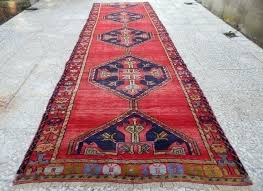 12 ft hallway runners ft vintage extra long and large handmade red colored runner rug