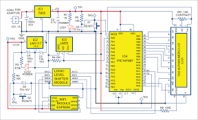 pic projects iot wi fi temperature logging system electronics Digital Temperature Controller Circuit Diagram 3 circuit diagram of the temperature logging system digital temperature controller using thermocouple circuit diagram