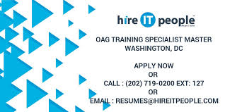 Oag Training Specialist Master Hire It People We Get It Done