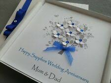 sapphire 65th 45th wedding anniversary card handmade personalised pas friend