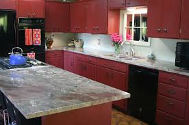 Kitchen Cabinets Painted Red Kitchen Red Kitchen Cabinets Inside Flawless Old Red Kitchen