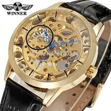 mens watch winder promotion shop for promotional mens watch winder men luxury gold skeleton alloy case mechanical hand winder reloj de moda top 10 brand winner waterproof watch