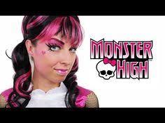 draculaura monster high makeup tutorial
