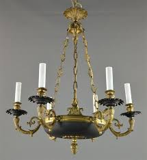 chandeliers black and gold chandelier bronze french empire tole chandelier vintage antique black gold brass