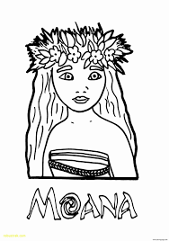 Moana Coloring With The Heart Printable Coloring Page For Kids