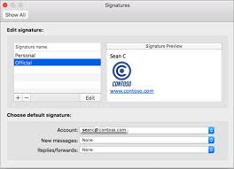 Create And Insert A Signature In Outlook For Mac Office