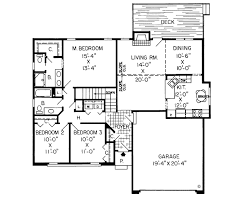ranch retro traditional house plan 20062 level one