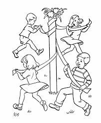 All the coloring pages of this category is placed at different pages. Bluebonkers Kids Birthday Games Coloring Page Sheets May Pole Coloring Home