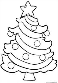 Undefined December Christmas Tree Coloring Page Colorful