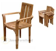 teak stacking chairs indonesia garden