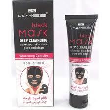 kmes black mask deep cleansing whitening plex 100ml