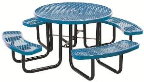 outdoor metal table.  Metal 46u2033 Round Expanded Metal Table Outdoor Tables And Table