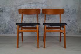 2er Set Dänische Teak Esszimmer Stühle Farstrup 1960er