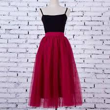 2020 Spring Summer Vintage 4Layers Skirts <b>Womens Elastic High</b> ...