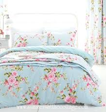 shabby chic bedding beach house blue pink roses chic queen duvet cover set by chic bedding shabby chic