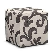 colette cube ottoman  gray  value city furniture