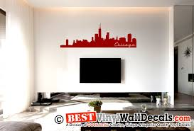 chicago skyline cityscape vinyl wall decal