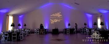 diy lighting wedding. Simple Walls Are Enhanced With A Monogram And Purple Uplighting. Diy Lighting Wedding