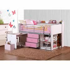 Savannah Bedroom Furniture Dhi Savannah Storage Loft Bed With Desk White Pink Box 1 Of 3