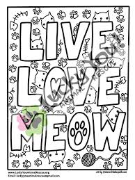Cat Coloring Page Printable Coloring Book