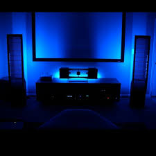 home led strip lighting. Blue Home Theater LED Lighting Kit 6-Flexible Strips (48-inch + TV) Led Strip P