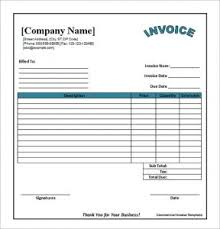 Blank Commercial Invoice Blank Invoice