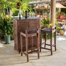 Riviera 3 piece Outdoor Wood Bar Set by Christopher Knight Home