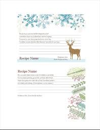 Christmas Recipe Card Recipe Cards Christmas Spirit Design Works With Avery 5889 2 Per