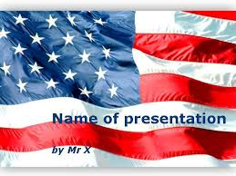 america ppt template american flag waving powerpoint template