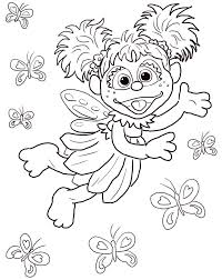 The sesame street coloring pages are both fun and educative as the interesting coloration of the muppets keep the children busy trying to find the right shades to fill the pictures with. Abby Cadabby From Sesame Street Coloring Page Free Printable Coloring Pages For Kids