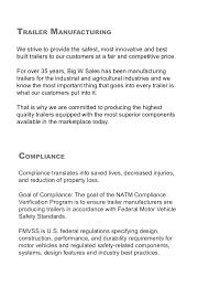 big w s trailer manufacturing trailer safety compliance docum big w s trailer manufacturing trailer safety compliance document