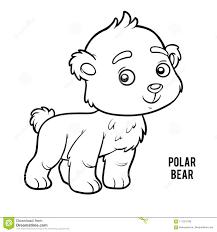 Libro Da Colorare Orso Polare Illustrazione Vettoriale