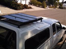 picture of installing a diy roof rack for solar panels