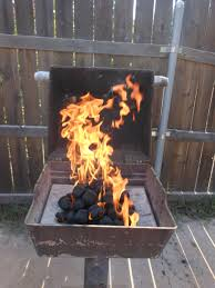 lit charcoal
