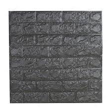 3d Wallpaper Schuim Baksteen Lijnen Kleurrijke Reliëf Rand Lijn