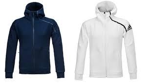 Details About Adidas Men Zne Hoodie 2 0 Jackets Navy White Training Fz Gym Top Jacket Bq6928