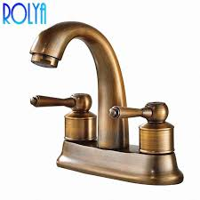 2019 rolya antique brass centerset lavatory faucet bathroom vintage old style basin mixer taps from sojo 247 22 dhgate com