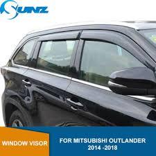 Side Window Deflectors For Mitsubishi Outlander 2014 2015 2016 ...
