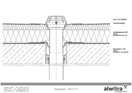 Cad Detail Dachablauf Alwitra Flachdach Systeme Heinzede