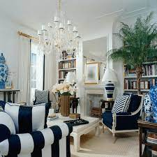 ralph lauren home blue and white living