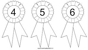 Coccarda Da Colorare Con Numeri 4 5 E 6 Mamma E Bambini Con Disegni